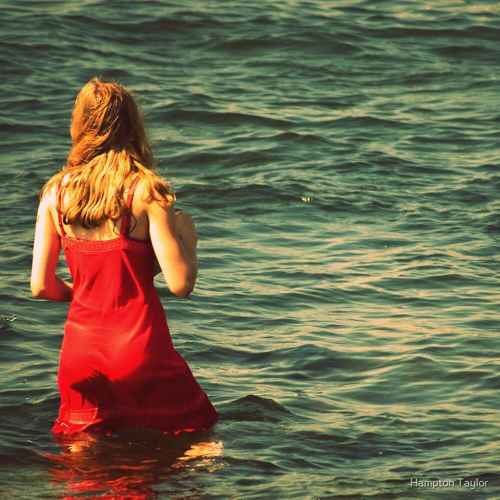 Girl in the Water - Newport, Rhode Island by Hampton Taylor