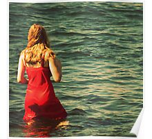 Girl in the Water - Newport, Rhode Island Poster