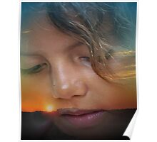 Skyler at Sunset Poster