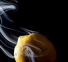 Smoke Lemon - Smoke Art Series by Hampton Taylor