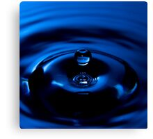 Blue Drop - High Speed Photography Canvas Print