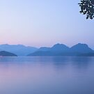 dusk over Gambier Island by Christopher Barton