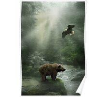 Eagle & Bear Poster