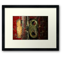 2000 year old door - China 2006  Framed Print