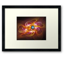 'Light Flame Abstract 262' Framed Print