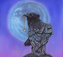 Treasure Seeker #20 (Crow Raven Painting) by artbyakiko