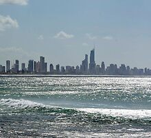 Surfers Paradise from burleigh heads by gillyisme53