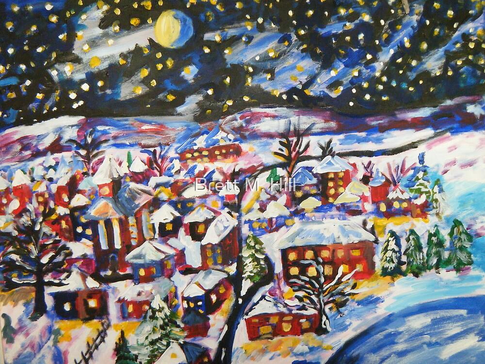 Sleeping Village, Christmas Snow  by Brett M. Hill