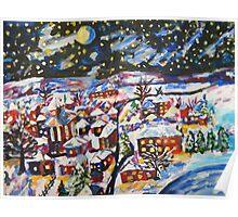 Sleeping Village, Christmas Snow  Poster