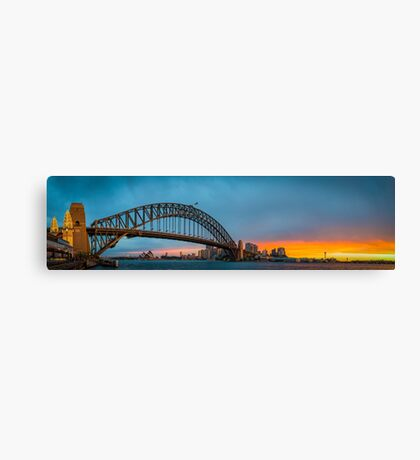 Sydney Panorama Sunset Canvas Print
