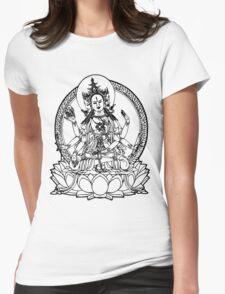 3 Headed Buddha on Lotus T-shirt Womens Fitted T-Shirt