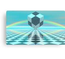 Chess World 10 - Rainbow Cube Canvas Print