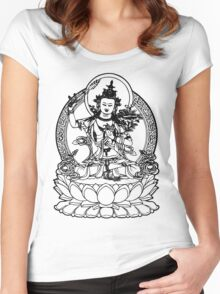 Buddha with Sword on Lotus t-shirt Women's Fitted Scoop T-Shirt