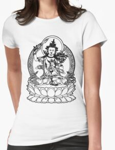 Buddha with Sword on Lotus t-shirt Womens Fitted T-Shirt