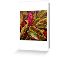 Ginger Flower Greeting Card