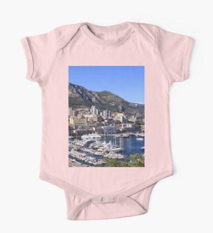 a colourful Monaco landscape One Piece - Short Sleeve