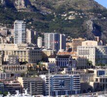 a colourful Monaco landscape Sticker