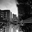 Reflected Glory - Bogota, Colombia BW by Anthony Evans
