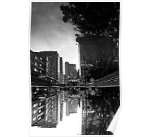 Reflected Glory - Bogota, Colombia BW Poster