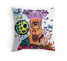 Shroom Tree Throw Pillow