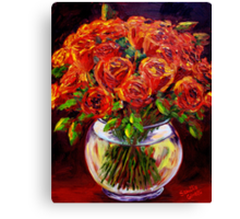 Roses in a Vase Canvas Print