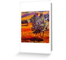 Hot Summer in the Olive Grove Greeting Card