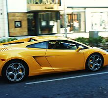 Exotic Yellow Sports Car on Rodeo by Kody Little