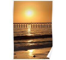 Sunset Pier, Santa Barbara, California Poster