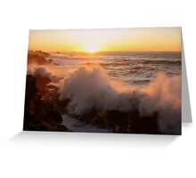 Sunset..Shore Acres Greeting Card