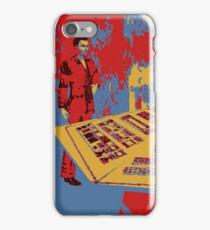 Christopher eccleston in tardis iPhone Case/Skin