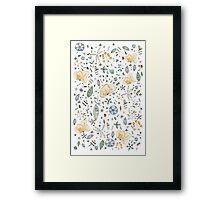 Flower Garden Watercolor Framed Print