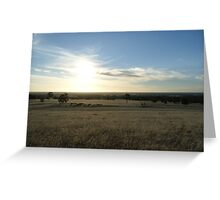 Sunburnt Country Greeting Card