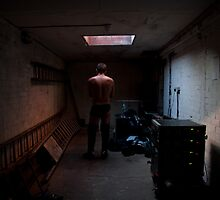 Wrestler in the locker room by MatRicardo