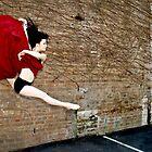 Dancing in a red dress by bradlentz-photo