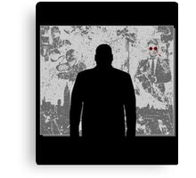 Devil in a snowstorm Canvas Print