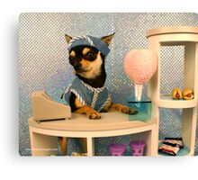 Candy Sales Dog Canvas Print