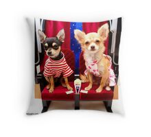 Dogs At The Movies-1 Throw Pillow