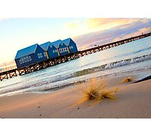 dune grass and the Busselton Jetty Photographic Print