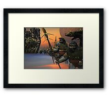 THE RETURN HOME FROM BATTLE Framed Print