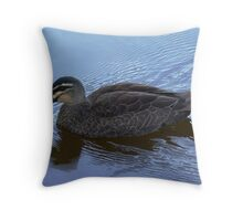 Pacific Black Duck on Lake Daylesford Throw Pillow
