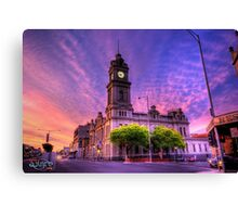 All along the Clocktower Canvas Print