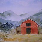 Smokey Mountain Barn Scene by JRobinWhitley