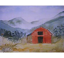 Smokey Mountain Barn Scene Photographic Print