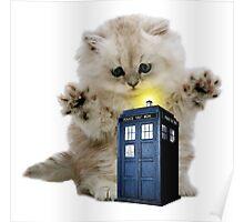 Kitty & The TARDIS Poster