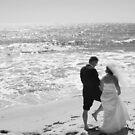 Wedding bells on the beach by Christine Oakley
