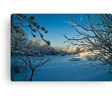 First Snowfall-Lancaster County, Pennsylvania Canvas Print