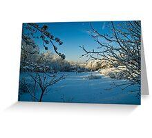 First Snowfall-Lancaster County, Pennsylvania Greeting Card