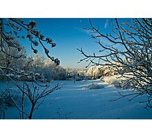 First Snowfall-Lancaster County, Pennsylvania Photographic Print