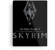 The Elder Scrolls V: Skyrim Logo Metal Print