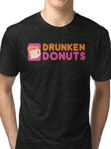 DRUNKEN DONUTS Tri-blend T-Shirt